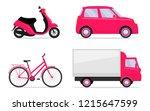 different vehicles  set. car ...   Shutterstock .eps vector #1215647599
