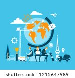 people working together in the... | Shutterstock .eps vector #1215647989