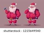 funny modern santa claus...   Shutterstock .eps vector #1215649540