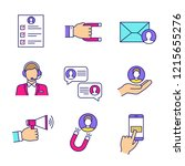 customer retention and loyalty... | Shutterstock .eps vector #1215655276