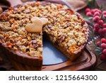 gingerbread tart with apples...   Shutterstock . vector #1215664300