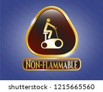gold shiny badge with... | Shutterstock .eps vector #1215665560