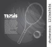 illustration set of tennis.... | Shutterstock .eps vector #1215665656