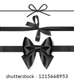 set of decorative black bow... | Shutterstock .eps vector #1215668953