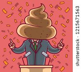 politician with a poop head...   Shutterstock .eps vector #1215671563