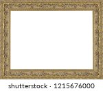 picture frame isolated on white ... | Shutterstock . vector #1215676000