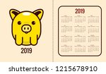 calendar for 2019 year with... | Shutterstock .eps vector #1215678910