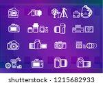vector digital cameras and...   Shutterstock .eps vector #1215682933
