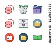 id icon set. vector set about... | Shutterstock .eps vector #1215690586