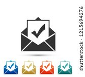 envelope with document and... | Shutterstock .eps vector #1215694276
