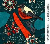 winter seamless pattern design. ...   Shutterstock .eps vector #1215696883