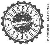 budapest hungary travel stamp... | Shutterstock .eps vector #1215697516