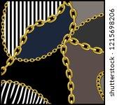 geometric pattern  golden chain ... | Shutterstock . vector #1215698206