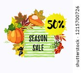 50  season sale vector banner... | Shutterstock .eps vector #1215700726