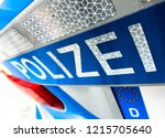 typical police vehicle in...   Shutterstock . vector #1215705640