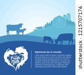 vector milk illustration with... | Shutterstock .eps vector #1215707176