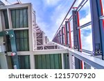 view inside a steel structure... | Shutterstock . vector #1215707920