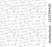 handwritten formulas background.... | Shutterstock .eps vector #1215709420