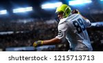 american football sportsman... | Shutterstock . vector #1215713713