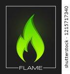flammable symbol. icon lighter... | Shutterstock . vector #1215717340