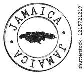 jamaica silhouette postal... | Shutterstock .eps vector #1215721219