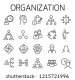 organization related vector... | Shutterstock .eps vector #1215721996