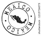 mexico silhouette postal... | Shutterstock .eps vector #1215726073