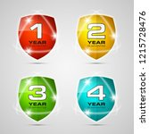 shield with guarantee one  two  ... | Shutterstock . vector #1215728476