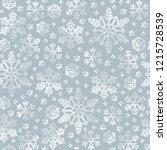 snowflake line seamless pattern.... | Shutterstock .eps vector #1215728539