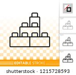 building block thin line icon.... | Shutterstock .eps vector #1215728593