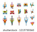 vector set. people  men and... | Shutterstock .eps vector #1215730360
