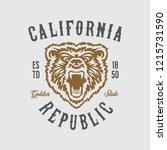 california republic t shirt...   Shutterstock .eps vector #1215731590