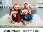 new year and christmas holidays.... | Shutterstock . vector #1215741103
