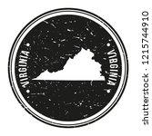 virginia map symbol round...   Shutterstock .eps vector #1215744910