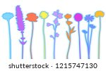 different wildflowers abstract... | Shutterstock .eps vector #1215747130