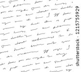 handwriting background.... | Shutterstock .eps vector #1215755929