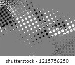halftone dots pattern .... | Shutterstock .eps vector #1215756250
