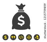 money bag icon on white... | Shutterstock .eps vector #1215759859