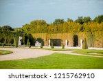 versailles garden with... | Shutterstock . vector #1215762910