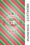 booby trap christmas emblem.   Shutterstock .eps vector #1215764380