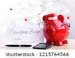 piggy bank wearing glasses and... | Shutterstock . vector #1215764566