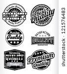 premium quality vintage labels...   Shutterstock .eps vector #121576483