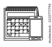 calendar reminder with... | Shutterstock .eps vector #1215777793