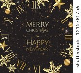 new year golden background with ... | Shutterstock .eps vector #1215781756