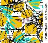 tropical  stripe  animal motif. ...   Shutterstock .eps vector #1215782836