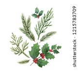 christmas composition with... | Shutterstock . vector #1215783709