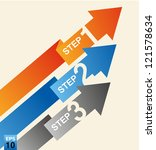 color arrow 3 step | Shutterstock .eps vector #121578634