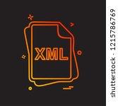 xml file type icon design vector | Shutterstock .eps vector #1215786769