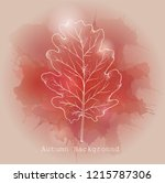 pink  red and beige watercolor... | Shutterstock .eps vector #1215787306