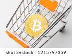 cryptocurrency golden bitcoin... | Shutterstock . vector #1215797359